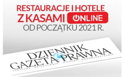 DGP: restauracje i hotele z kasami Online od I. 2021 r.
