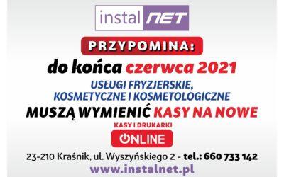 ZMIANA KAS FISKALNYCH DO KOŃCA CZERWCA 2021